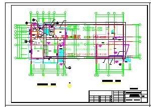 某瓦房坡屋顶别墅cad设计施工图纸-图二