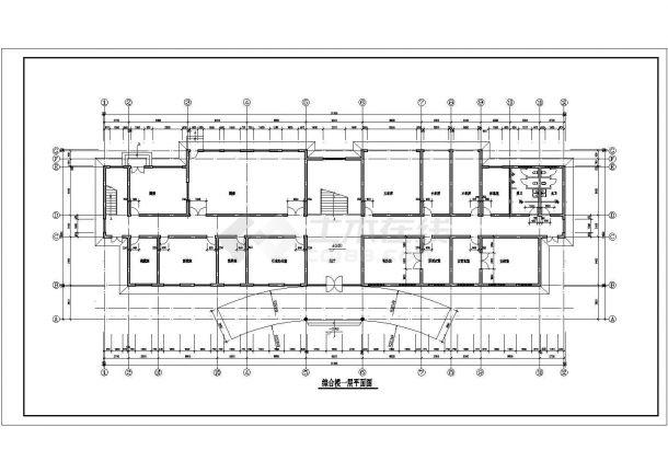 苏州市工业园区内装修某气派办公楼CAD设计方案图-图二