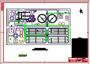 一套毕业设计以氧化沟为主的平面管线cad设计图纸-图一