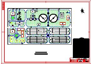 一套毕业设计以氧化沟为主的平面管线cad设计图纸-图二