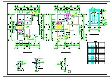 一整套别墅建筑设计cad平立剖施工方案图(附效果图)-图一