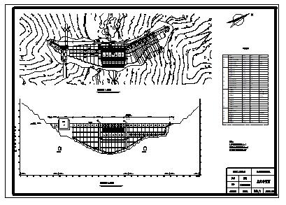 土木工程毕业设计_某水利水电工程设计cad图(含计算书,毕业设计)-图一