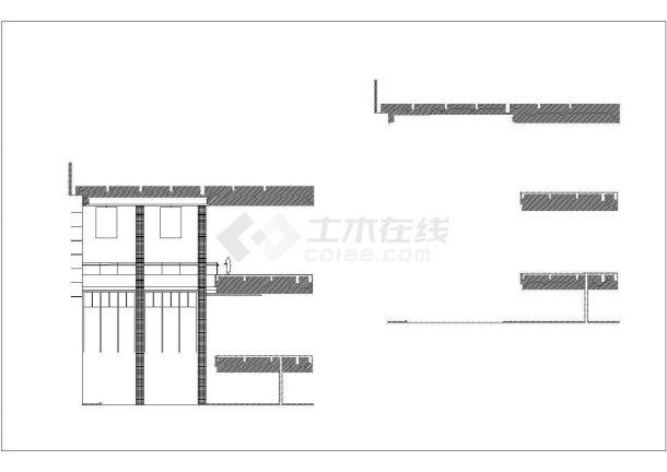 某大酒店全日餐厅包间装修设计cad全套施工图-图二