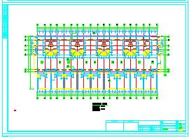 [抚顺]某三层异性柱结构别墅cad建筑施工图-图二