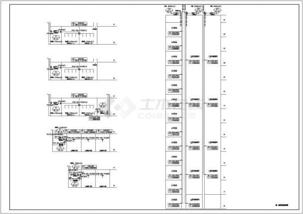 某高层商业综合楼空调通风防排烟设计cad全套施工图(含设计说明)-图二