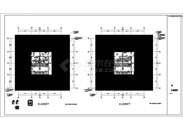 某高层综合楼暖通空调系统设计cad详细施工图-图一