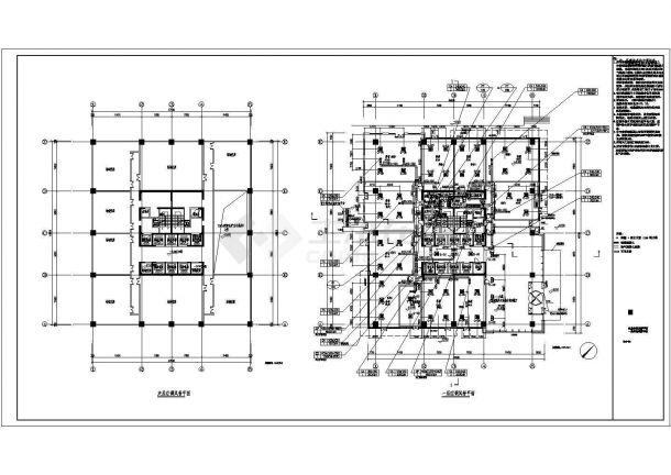 某高层综合楼暖通空调系统设计cad详细施工图-图二