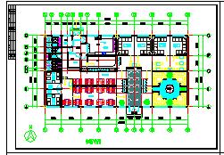 长36.5米 宽22.098米 杨浦咖啡厅装修设计方案图纸-图一