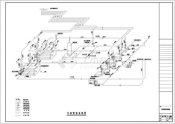 某商业建筑空调及通风系统(水冷式冷水机组)设计cad全套施工图纸(含设计说明)-图一