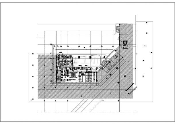 某大型综合超市空调通风系统(风冷热泵冷水机组)设计cad详细施工图(含设计说明)-图一