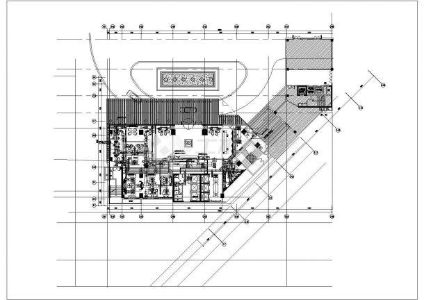 某大型综合超市空调通风系统(风冷热泵冷水机组)设计cad详细施工图(含设计说明)-图二