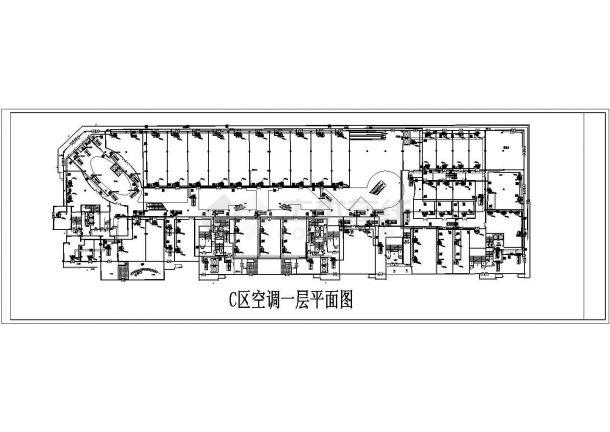 某大型商城空调通风系统设计cad 全套施工图(含设计说明)-图一
