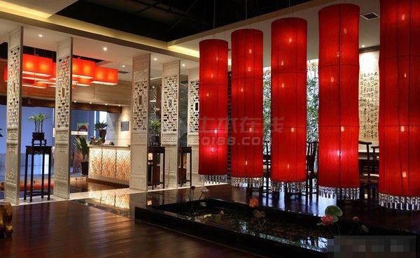 春秋茶楼现代风格室内装修设计cad全套施工图(含效果图)-图二