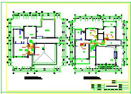 DF户型别墅空调cad设计施工图-图二