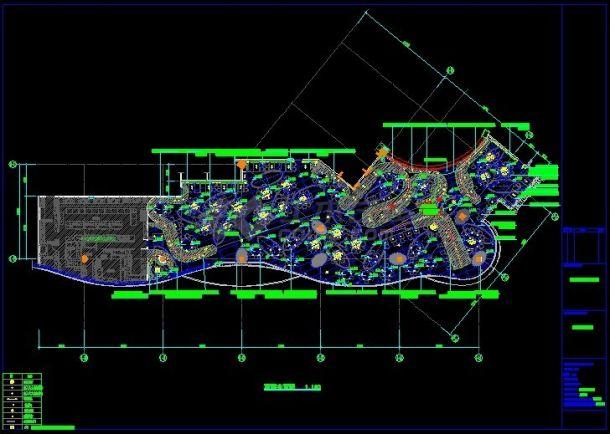 外婆家餐厅室内装修设计cad全套施工图(含设计说明,带精美实景图)-图二