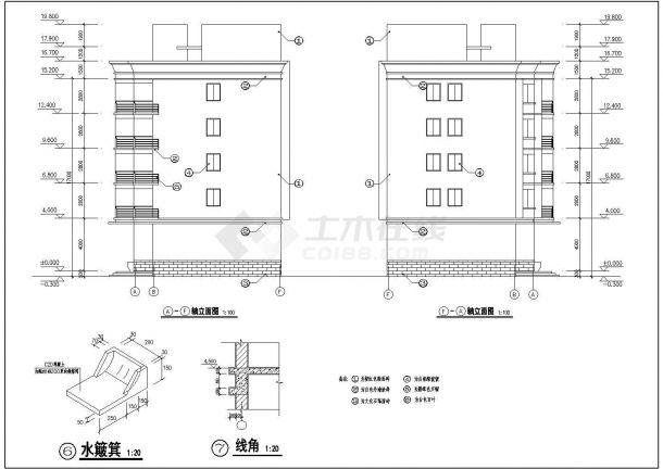 某地区师范大学附属中学五层餐厅宿舍综合楼建筑方案设计施工图(含各楼层设计说明)-图一
