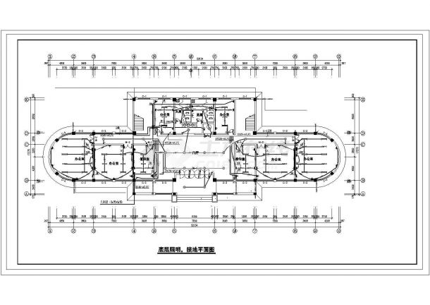 多层办公楼电气设计方案施工图系列-图一