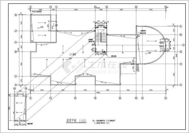 幼儿园设计_某三层中小型幼儿园设计CAD图-图一