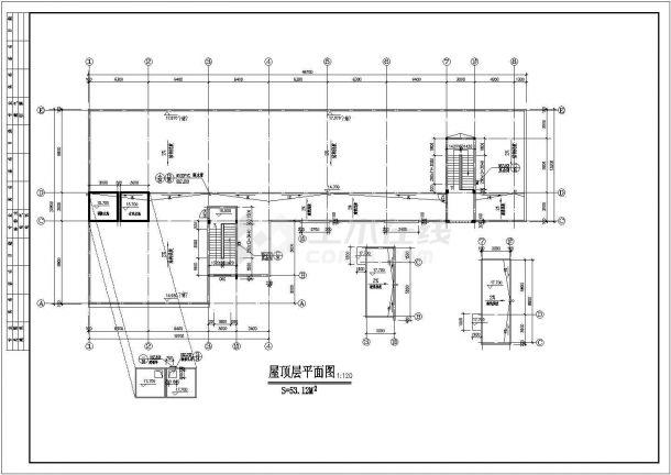 幼儿园设计_某地区四层中小型幼儿园设计CAD图-图一