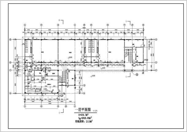 幼儿园设计_某地区四层中小型幼儿园设计CAD图-图二