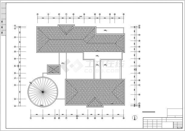 幼儿园设计_某中型二层现代风幼儿园设计CAD图-图一