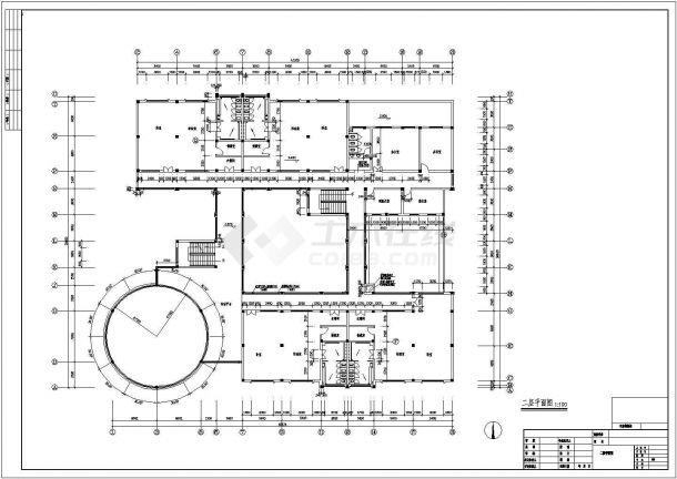 幼儿园设计_某中型二层现代风幼儿园设计CAD图-图二