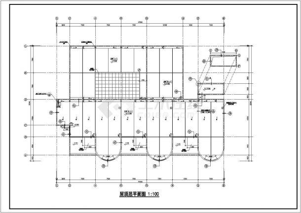 幼儿园设计_某中型三层幼儿园设计CAD图-图一
