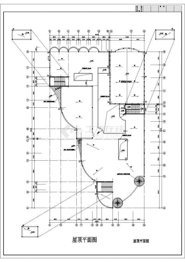 幼儿园设计_某地区三层中型幼儿园设计CAD图-图一