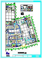 某市大型广场空调设计整套cad平面图纸-图一