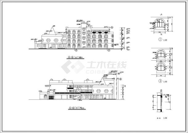 幼儿园设计_某地区小型四层幼儿园设计CAD图-图二