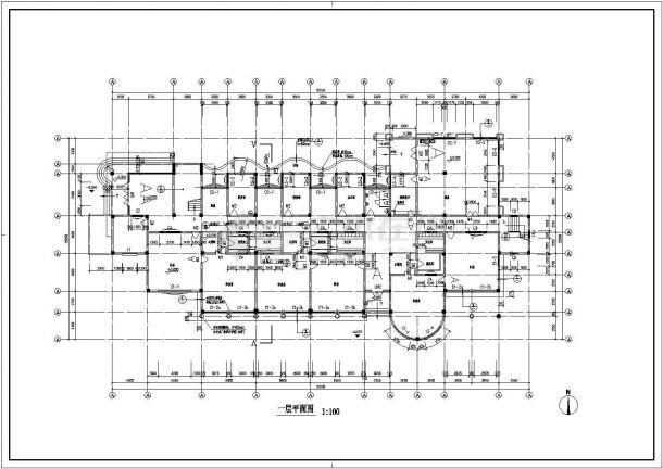 幼儿园设计_某地区矩形三层幼儿园设计CAD图-图一