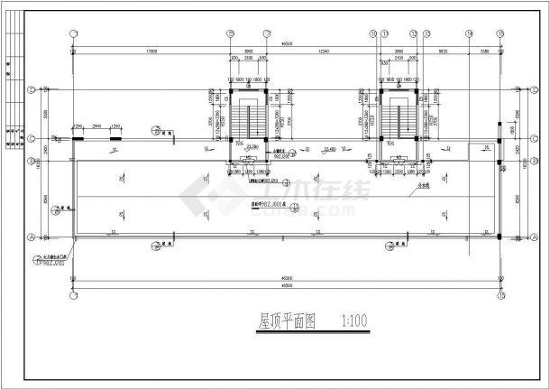 河南省洛阳市某四星级学校全套教学楼建筑结构cad施工图-图二