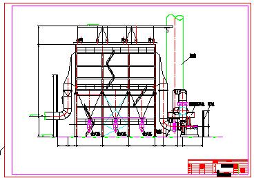 某脱硫除尘设计cad施工图纸-图二