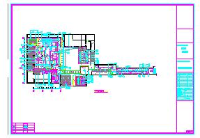 某酒吧装修设计CAD施工图纸,很详细-图一