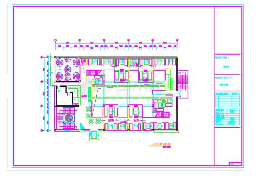 某酒吧装修设计CAD施工图纸,很详细-图二