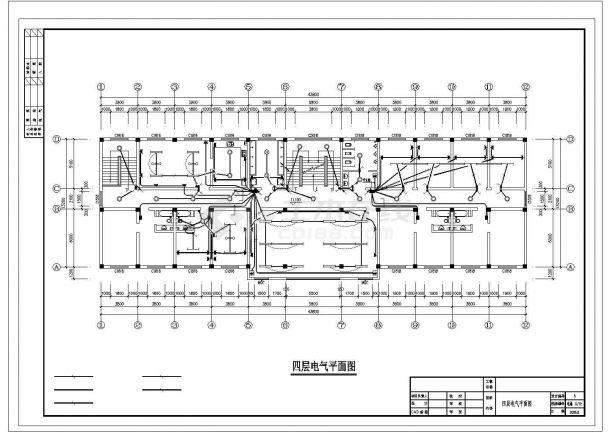 某厂办公楼电气设计施工图-图一