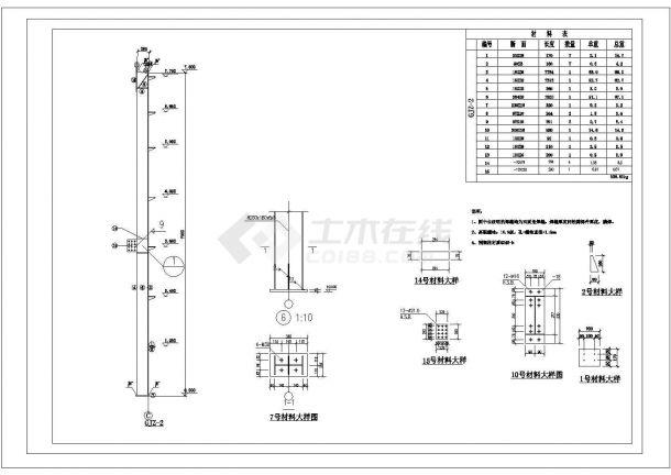 厂房设计_双层厂房建筑施工图cad图纸-图一