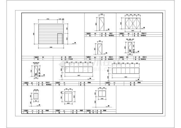 厂房设计_多层厂房建筑施工图 cad图纸-图一