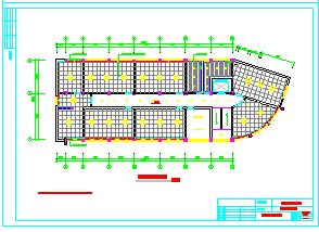 办公室吊顶装修cad平面设计施工图纸-图一
