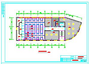 办公室吊顶装修cad平面设计施工图纸-图二