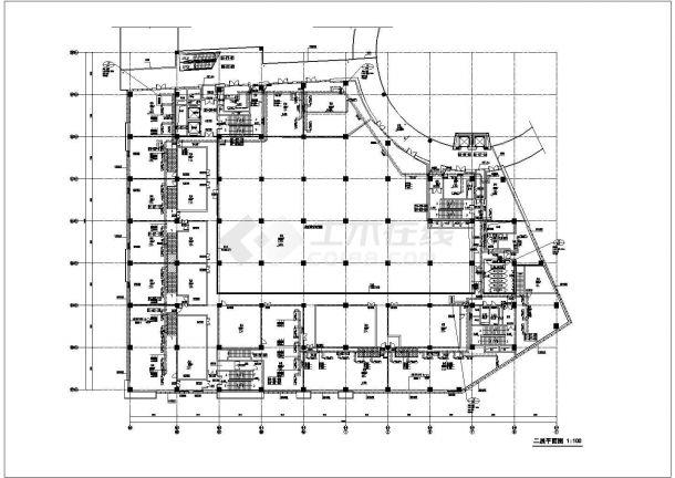 某商业广场空调通风及防排烟系统设计cad详细施工图-图一