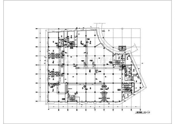 某商业广场空调通风及防排烟系统设计cad详细施工图-图二
