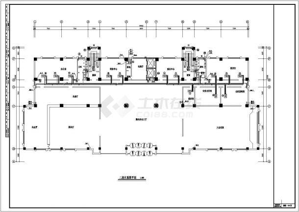 某多层办公楼溴化锂空调设计图-图二