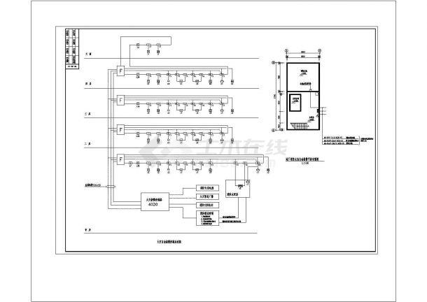 恩平江洲目标局消防自动报警系统CAD建筑设计施工图-图二