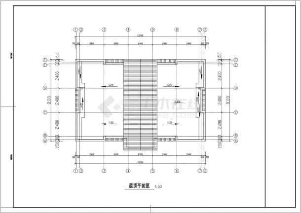 【常熟】某小型菜市场公厕全套建筑施工设计cad图-图一