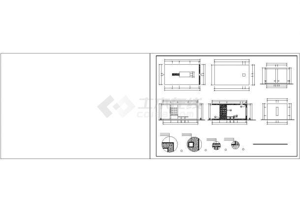 【六安】某花园精品小区全套景观施工设计cad图纸(含效果图)-图二