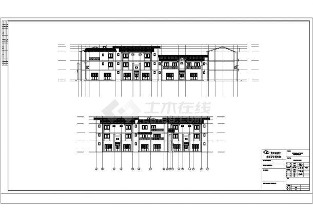 某旅游避暑度假民宿建筑方案设计施工CAD图纸-图二