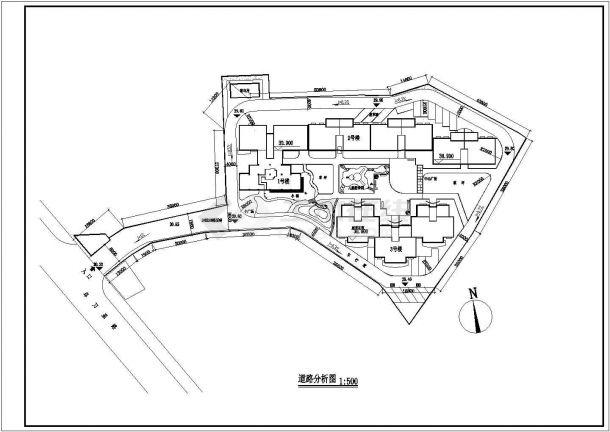 【南京】某住宅小区全套景观施工设计cad图(含总平面图)-图一