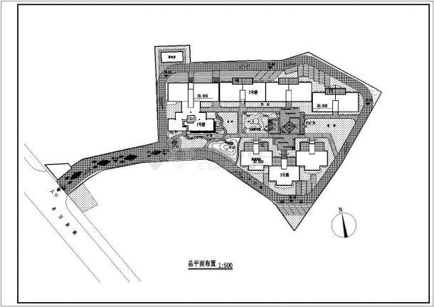 【南京】某住宅小区全套景观施工设计cad图(含总平面图)-图二
