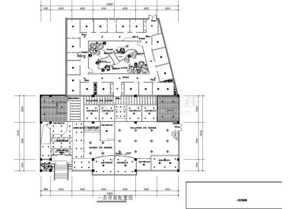 经典咖啡吧及西餐厅室内装修设计cad详细方案图(含多套设计)-图二